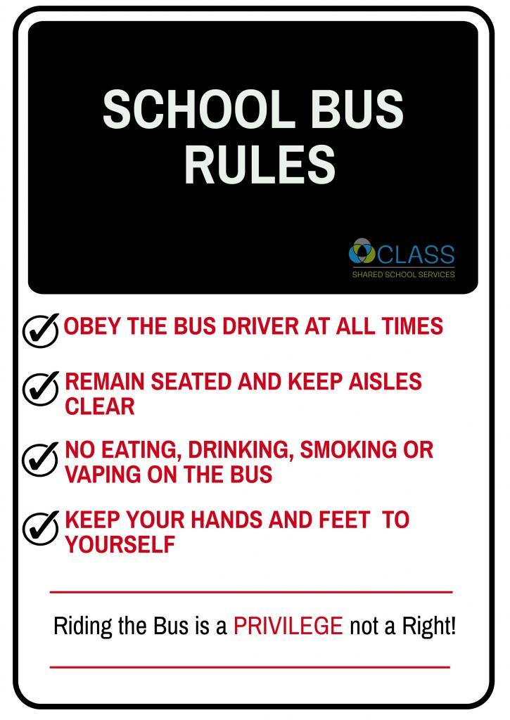 photo relating to Printable School Bus Rules named Program Shared Higher education Providers Chatham-Kent College or university Bus Security